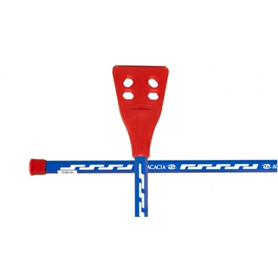 Red White & Blue<BR>Acacia® Pro-6000 <BR> Aluminum Broomball Stick / Broom
