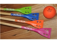Acacia® Junior Broom <BR> Wood Broomball Stick / Broom
