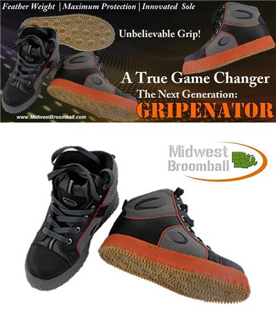 "Acacia® ""Grip-Inator"" <BR> Broomball Shoes"
