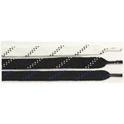72 Ultra Black/White <BR> Broomball Laces