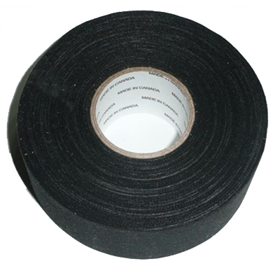 Black Cloth Athletic Tape <BR> Hockey Stick / Broomball Broom