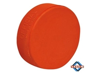Orange 10 oz Heavy <BR> Weighted Hockey Puck