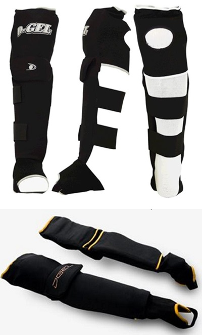 D-Gel® Deluxe 555 Broomball <BR> Knee and Shin Pads / Guards