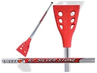 D-Gel® K5 Silver Stone <BR> Aluminum Broomball Stick / Broom