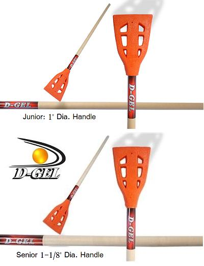 D-Gel® Junior / NEXT <BR> Wood Broomball Stick / Broom