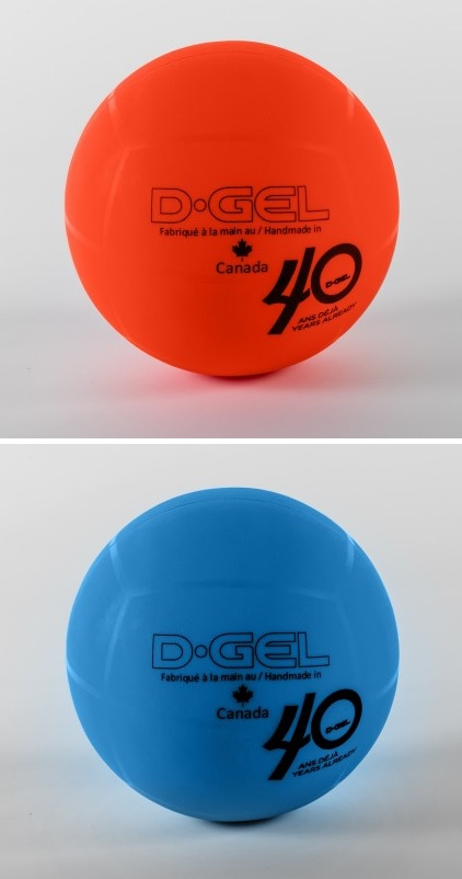 D-Gel® Orange & Blue <BR> Broomball Ball