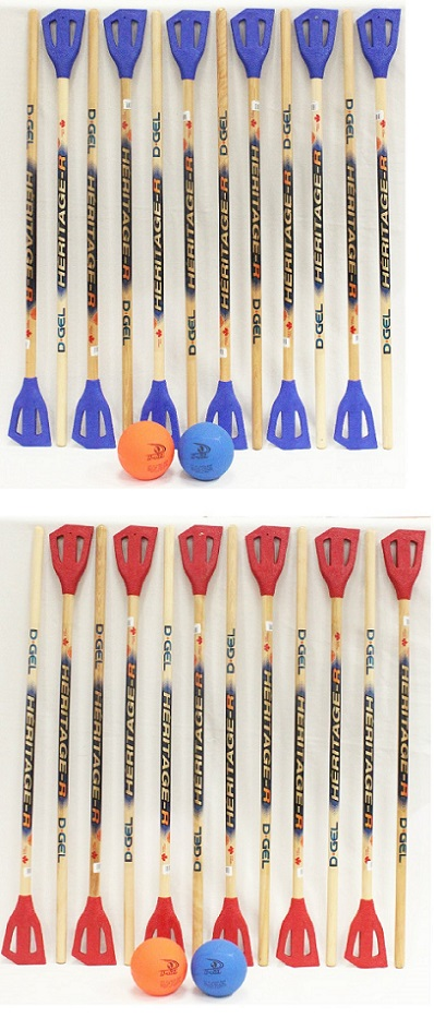 Broom Ball Starter Set <BR> (12 Sticks & 2 Balls)