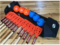 Group Broomball Set <BR> 12 Sticks, 6 Balls & Bag