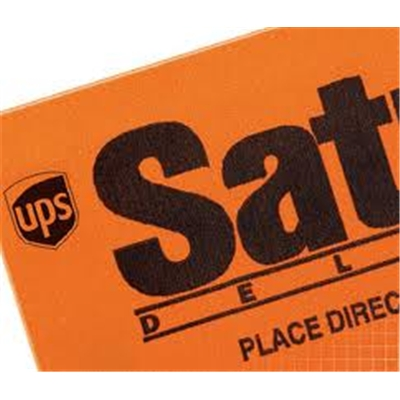UPS Saturday Delivery <BR> <BR> <BR>