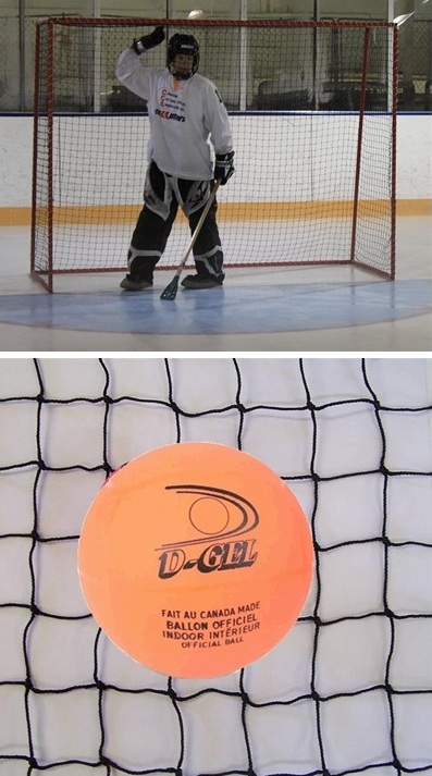 (1.9mm) Broomball Netting <BR> Fits 6' H x 8' W Goal